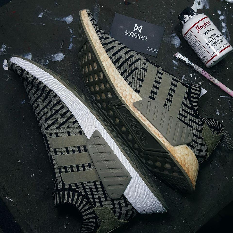 Repaint đế giày bằng màu Angelus White